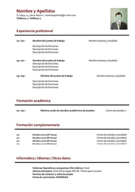 Plantilla De Curriculum Britanico Tutorial Curriculum Cronol 243 Gico Y Curri