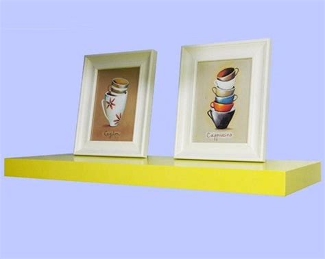 Yellow Wall Shelf by Yellow Floating Shelves 24inch Traditional Display
