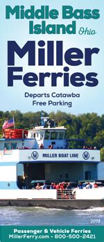 miller boat line middle bass island miller ferry middle bass island ferry schedule fares