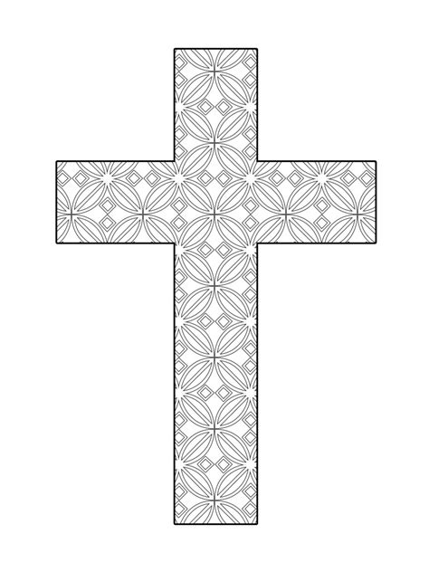 coloring pages for adults crosses printable cross coloring flower pattern the cross