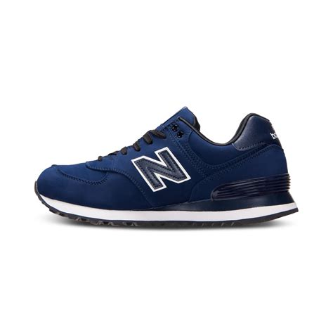 new balance mens sneakers new balance 574 casual sneakers in blue for lyst