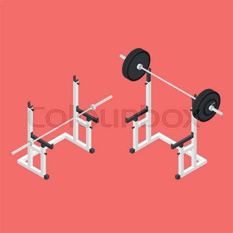 isometric bench press barbell squat stand power rack holder bench for barbell