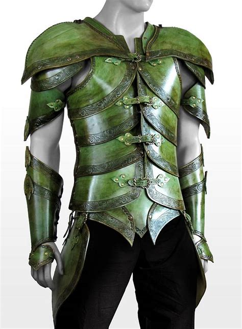 Gothic Home Decorations by Elf Leather Armor Leaf Green