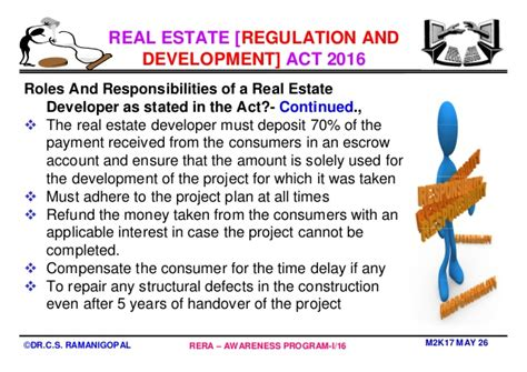 Mba In Real Estate Management by Mba In Real Estate Management Why Rera By Professor Dr C