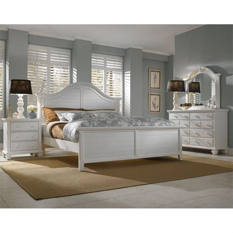 broyhill mirren harbor arched panel bed  piece bedroom set  white  pcpanelbed set