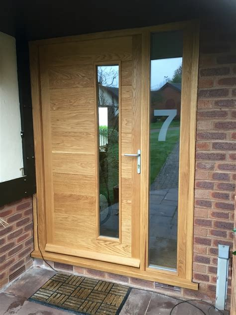 Exterior Doors With Side Panels Wooden Front Doors With Side Panels