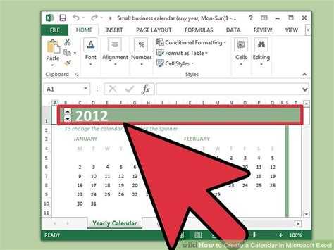 How To Create Calendar In Excel How To Create A Calendar In Microsoft Excel With Pictures