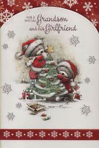 male relation christmas cards   special grandson   girlfriend