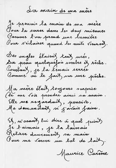Les 100 meilleures images du tableau poésie Maurice Carême