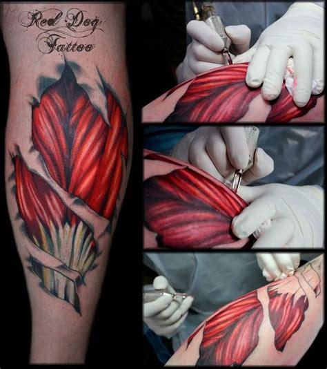 muscle tattoos 65 fantastic muscles tattoos golfian
