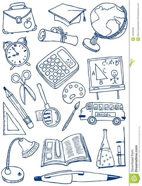 doodle school free education doodles stock vector illustration of paintbrush