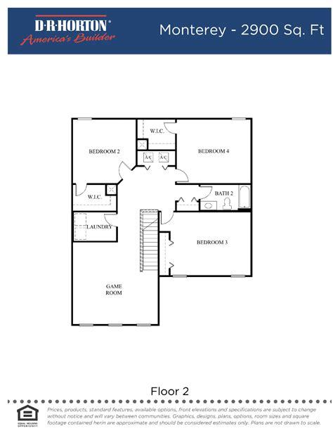 dr horton monterey floor plan monterey fl pl page 002