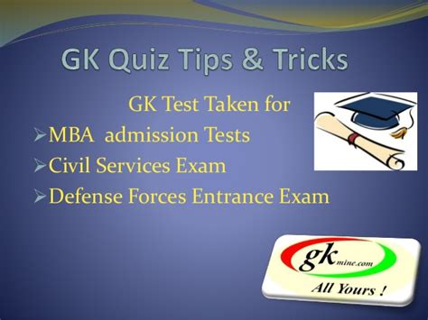 Gk For Mba by Gk Quiz Questions Tips And Tricks Lesson 1