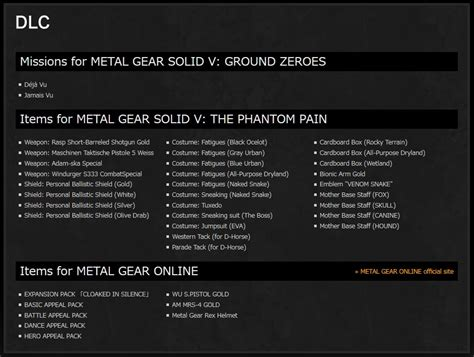 Ps4 Metal Gear Solid V Definitive Experience metal gear solid v the definitive experience angek 252 ndigt
