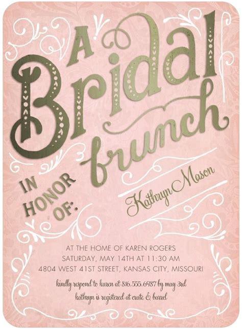 wording for wedding brunch invitation bridal brunch signature white bridal shower invitations