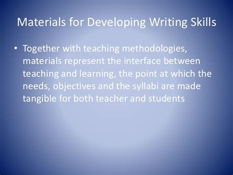 developing writing skills in 0415590833 materials for developing writing skills