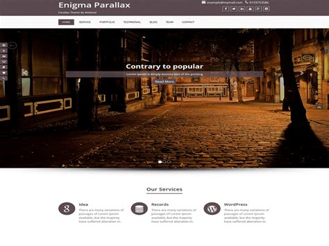 enigma parallax template gratis wordpress wordpress