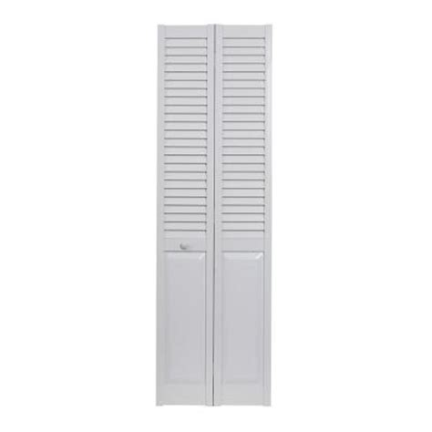 Vinyl Closet by Pinecroft 30 In X 80 In Louver Panel White Hollow
