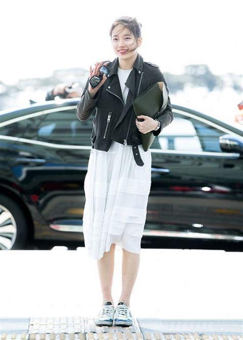 Longdress Bunga Sepatu Merah casual dan simple 15 gaya fashion ala bae suzy yang bisa