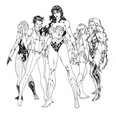 dc super women coloring pages