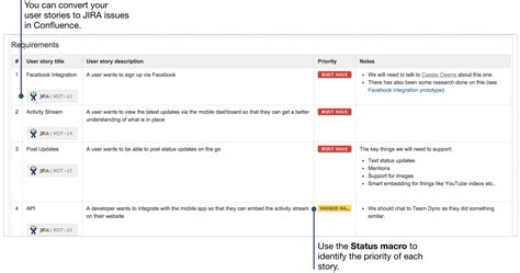 data integration requirements template how to document product requirements in confluence