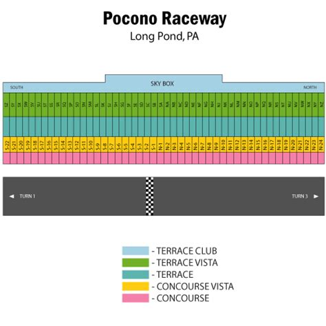 pocono raceway seating chart pennsylvania 500 august 05 tickets pond pocono