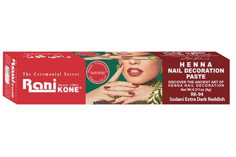 Rani Kone Henna Rk 77 1 rani kone henna nail decoration paste sudani
