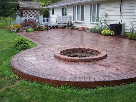 backyard concrete patio ideas indiana sting concrete and polyaspartic coating