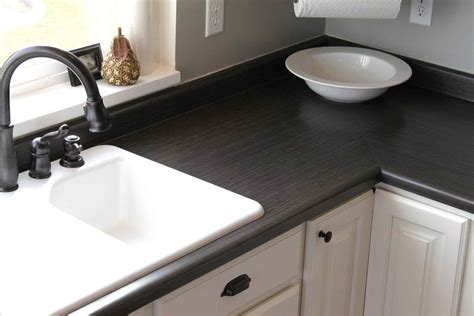 black sink white countertop cheap countertop options best solution to get stylish