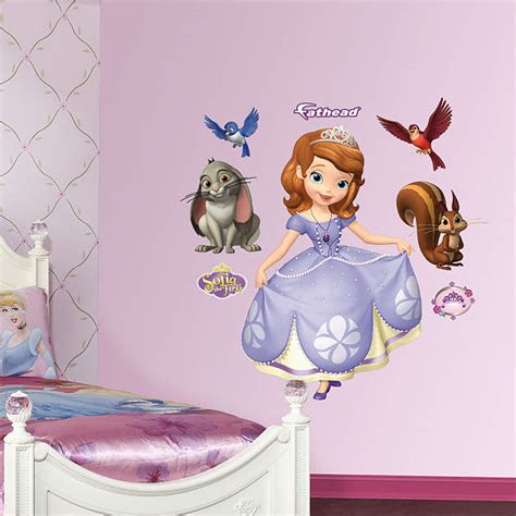 sofia the first bedroom decor sofia the first fathead wall decal