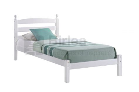 White Wooden Bed Frames Uk Birlea Oslo 3ft Single White Wooden Bed Frame By Birlea