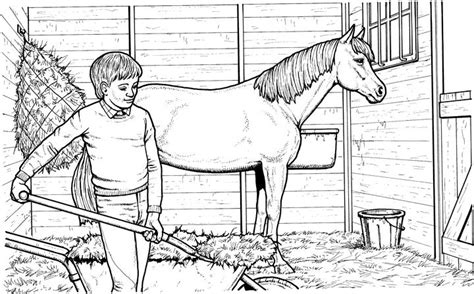 coloring pages of horse stable free coloring pages of picture of stable