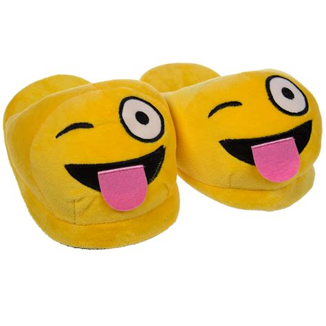 smiley slippers emoji house slippers soft plush for adults