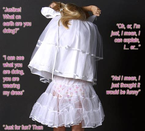 sissy wedding stories titillating tg captions a new groom becomes a feminized