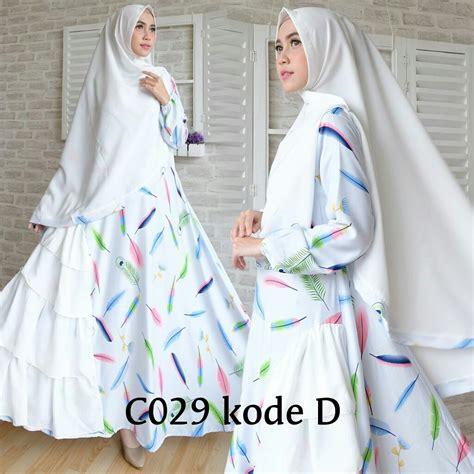 Gamis Jawhara Putih Syar I baju muslim syar i putih cantik c029