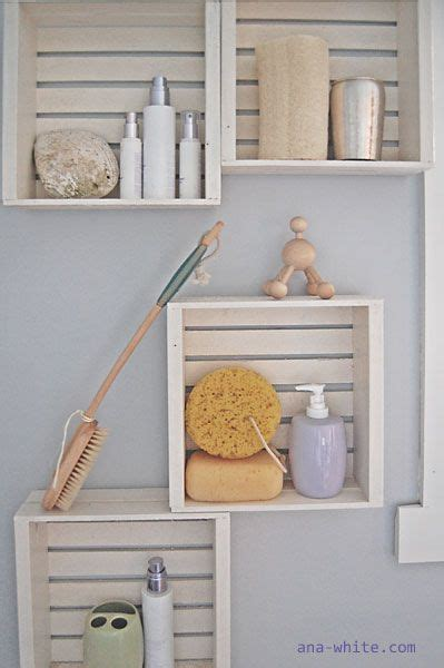 crate shelves bathroom diy project crate shelves have need want