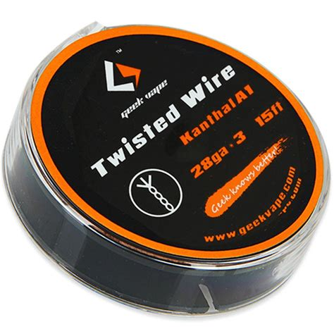 Authentic Twisted Kanthal A1 Wire 28 X3 Ga Awg Khant T0210 geekvape twisted kanthal ka1 wire 28ga x 3 5m numedd dk