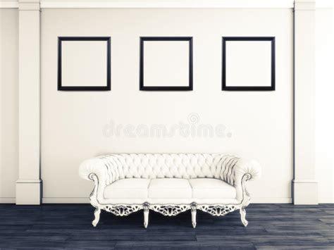 cornici di design interior design bianco salone con il sof 224 e le cornici