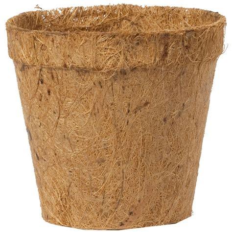 coco fiber coconut fiber round pots 2 25 quot pack of 12