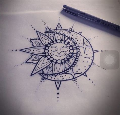 sun mandala tattoo sun and moon mandala ideas