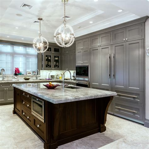 Grey Cabinets Kitchen by 24 Grey Kitchen Cabinets Designs Decorating Ideas
