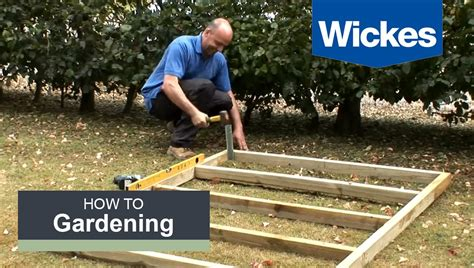 how to build a base how to build a wooden shed base with wickes youtube