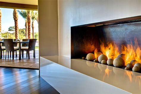 modern fireplace ironwood estate in paradise valley
