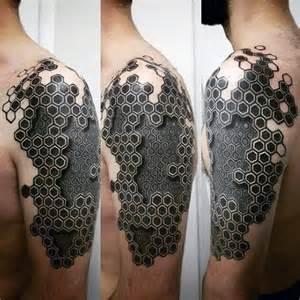 50 geometric arm tattoo designs for men bicep ink ideas