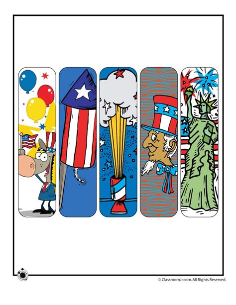 printable science bookmarks printable 4th of july bookmarks woo jr kids activities