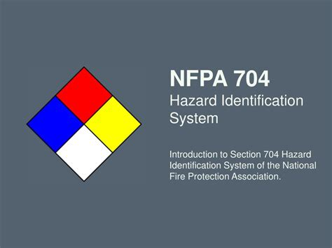 ppt nfpa 704 hazard identification system introduction