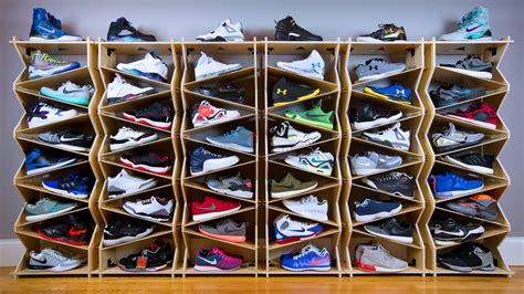 shoe storage system a shoe storage system designed for sneaker collectors and