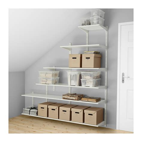 Bedroom Wall Shelves For Clothes Algot Wall Upright Shelves Ikea