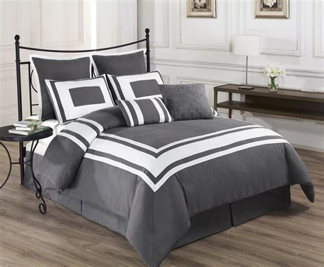 grey and white comforter set queen 8 piece lux d 233 cor gray comforter set