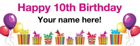 white 10th birthday pvc banner printed with free delivery